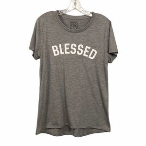Modern Lux NEW Blessed Gray T shirt Size XL